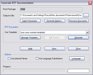 generate rtf documentation - enterprise architect