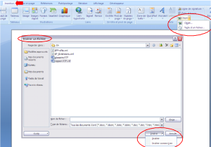 inserer un fichier rtf dans word - enterprise architect